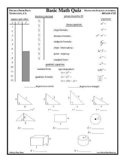 Math - Physics Phor Phun Math and Science Tutoring